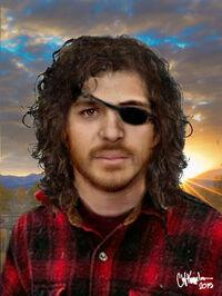 One-Eyed Jack with eyepatch