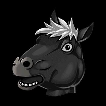Gear-Black Horse Headdress Render