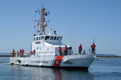 US Navy 050719-N-9293K-009 The U.S. Coast Guard cutter USCGC Blue Shark WPB 87360 arrives at its new homeport of Everett Wash