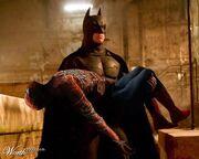 Batman saves Spider-Man