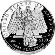 American Platinum Eagle 2008 Proof Rev