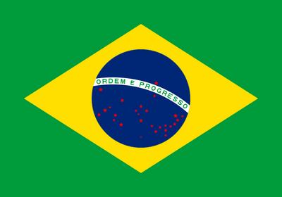 Red Stars Flag of Brazil
