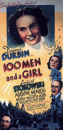 Original movie poster for the film One Hundred Men and a Girl