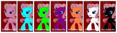 G3.5 Pinkie Pie alternate costumes
