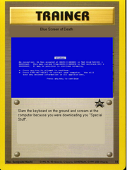 Blue screen of death card