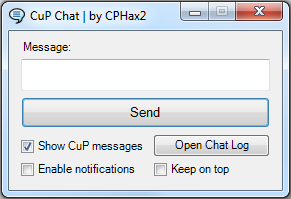CuP Chat interface 1.1