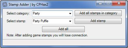 Stamp Adder interface