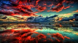 Red-clouds-on-lake