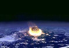 Earthcomet collision