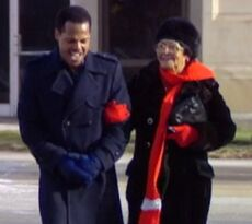 Tony with grandma after release