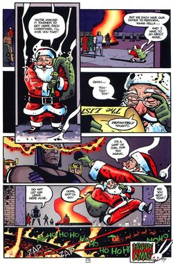 Darkseid and Santa