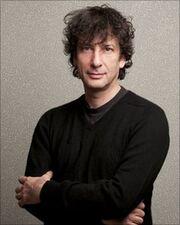 Neil Gaiman small smile