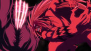 Tora slicing the Oni