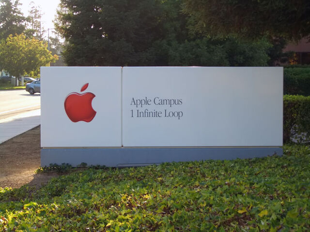 File:Apple Headquarters Sign ByDay.jpg