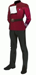 Uniform dress red po 1