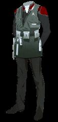Uniform Engineer Officer Red