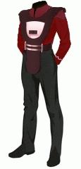 Uniform duty red po 3 security armor