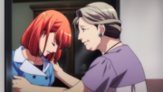 Haruka Encouraged by her Grandmother
