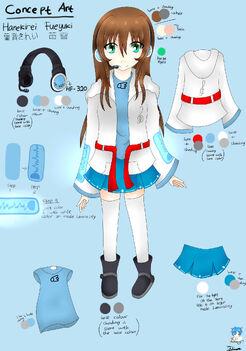 UTAU Concept Art - Hanekirei Fueyuki