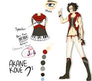 Akane Koue - Reference Sheet