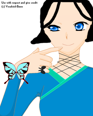 Miku Butterfly Base by Vocaloid Bases