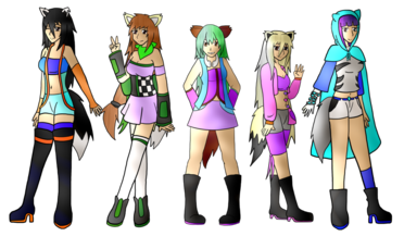 Megami wolves (Picture By DarkBox-V2k)