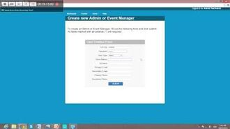 Create an Event Manager Administrator