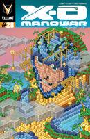 X-O Manowar Vol 3 28 Minecraft Variant