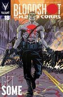Bloodshot and HARD Corps Vol 1 18 Hamner Variant