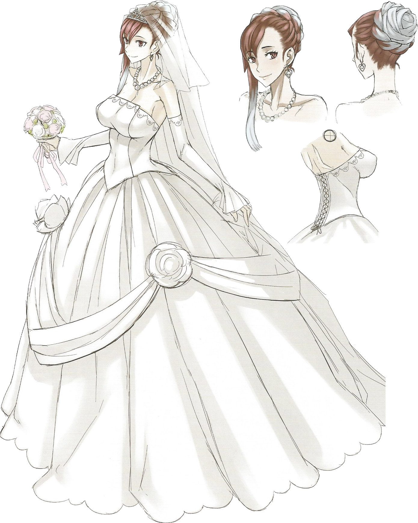 Image Riela Wedding Dress Concept Art Png Valkyria Wiki