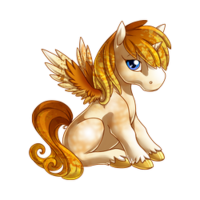 Candy Glass Alicorn Baby