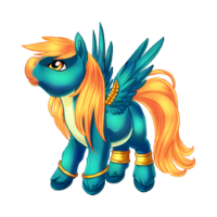 Brightest Blue Pegasus Baby