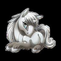 Pewter Unicorn Baby