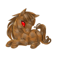 Rusty Cyborg Unicorn Baby