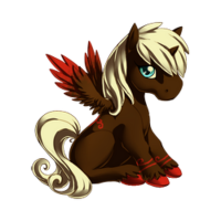 Raspberry Chocolate Swirl Alicorn Baby