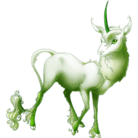 Ghost of a Rose Heraldic Unicorn