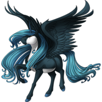 Noble Azure Alicorn