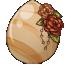 Antique Rose Unicorn Egg