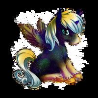 Galaxy Dust Alicorn Baby