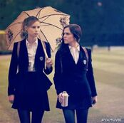 Lissa and Rose walking in Academy