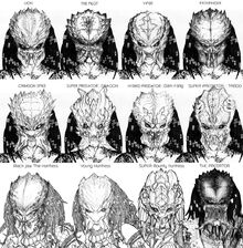 12 predators face concept by corruptionsolid-d37mheh