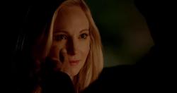 Stefan touching Caroline face 5x20