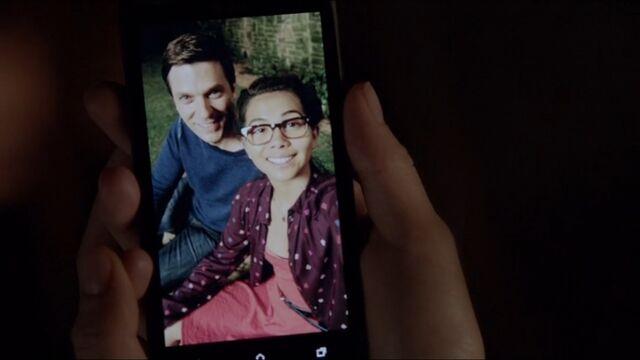 File:Megan with Grayson TVD 5x01.jpg