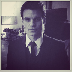 Elijah arrives for first day of filming.