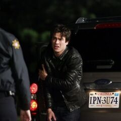 Damon with Sheriff Forbes.