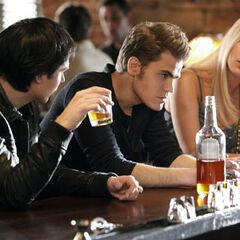 Rebekah Damon and Stefan 3x16