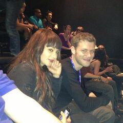 Persia White and Joseph Morgan
