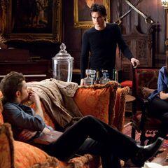 Damon,Katherine and Stefan.