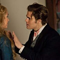 Lexi and Stefan talking.
