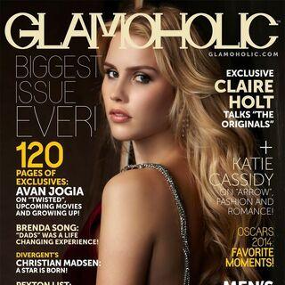 Glamoholic — Mar 2014, United States, Claire Holt